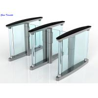 RFID Card Security Entrance Speed Gates / Half Height Optical Turnstile Door Manufactures