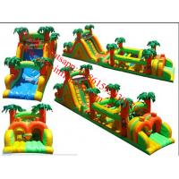Renting Durable Inflatable Obstacle Course For Jungle Theme Manufactures