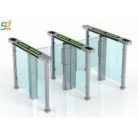 Slim Supermarket Swing Gate , Glass Turnstile Ul2593 Standard Servo Motor Manufactures