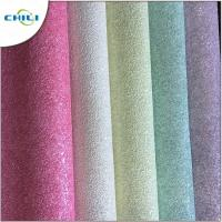 Custom Silver Glitter Wallpaper 0.6mm Thickness 137cm Width Entertainment Manufactures