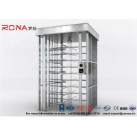 Deluxe Automatic Full Height Turnstile  Pedestrian System Parking Facilities Rotating Gate With 304# Stainless Steel Manufactures