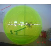Yellow PVC Inflatable Water Walking Ball , Water Bubble Ball For Kids Manufactures