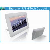 China Slideshow Playback 7 Inch Small Digital Picture Frame With Earphone Interface 200cdm2 on sale