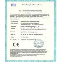SUFE Autoparts Lighting Co., Ltd. Certifications