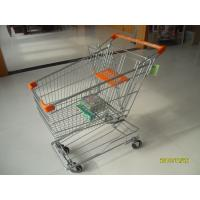 China Low Carbon Steel Wire Shopping Carts With Wheels 870x525x975mm For Supermarket on sale