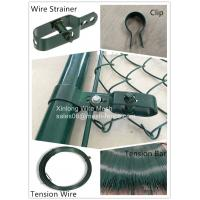 China Heat Treated Security Chain Link Fence Pvc Coated OEM / ODM Available on sale