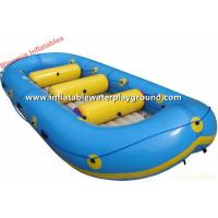 Green Inflatable Rowing Boat Inflatable Lake Rafts Rentals For Adults And Kids Manufactures