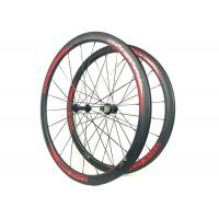 Red BIKEDOC Logo 38MM Clincher Tubular Bike Wheels 700C High TG Cycling Carbon Manufactures