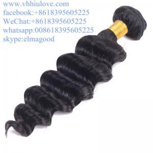 100% Unprocessed Full Cuticle Tangle Free Loose Deep Wave 8a Grade peruvian Virgin Hair Manufactures