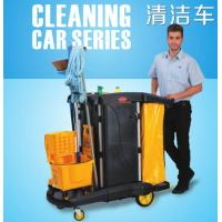 Quality Multipurpose Cleaning Cart With Cover / Room Service Equipments Without Noise for sale