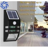 Quality Metal Black Finish Solar Security Sensor Light Quick Installation For Home Decor for sale
