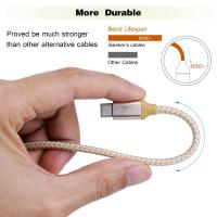 Short USB C to USB A Type C Charging Cable 1Ft Multicolors Nylon Braided Manufactures