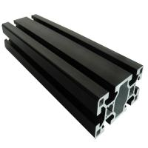 China 6063 T5 Aluminium Extrusion Profiles  Black Anodized Slot Linear Rail on sale