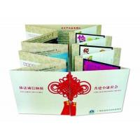 Quality Hardcover Book Binding Postcard Printing Services With Stamp / Silver Image for sale