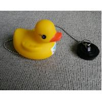 Non Phthalate Pvc Bathtub Water Stopper  , Toybathtub Drain Stopper With Rubber Duck Manufactures