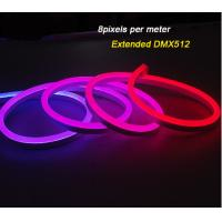 China IP68 DMX512 Outdoor Flexible LED Strip Lights / RGB Neon Digital Led Light on sale