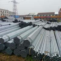 China Diameter 12 - 508mm Pre - Galvanized Steel Pipe / Round GI Pipe ASTM A53 Hot Dipped Steel Pipe on sale