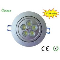Pure aluminum body cool white 5W 500 LM 30 / 60 degree dimmable LED downlights Manufactures