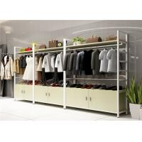Wood Landing Clothing Display Showcase Multi Functional Customized Color Manufactures