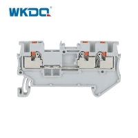 Buy cheap Feed Through Wire Electrical Terminal Block 1.5mm 1 Input 2 Output Push In from wholesalers