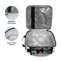 Dinosaur PEVA Lining Insulated Lunch Cooler Bags For Kids Manufactures