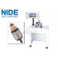 PLC Controlled Armature Balancing Machine , Automatic Motor Rotor Testing Equipment Manufactures