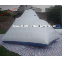 White Large Inflatable Iceberg Rentals , 3.7mH Inflatable Water Mountain Manufactures