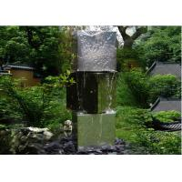 Three Tubes Stainless Steel Water Feature Sculptures Modern Western Style Manufactures