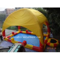 0.9mm PVC Inflatable swimming pool / Inflatable Water Pools with pillar and net Manufactures