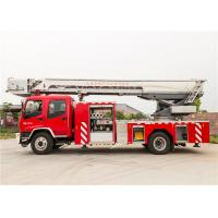 Wheel Base 5550mm Aerial Ladder Fire Truck 30 Meters Height Large Adjustment Range Manufactures