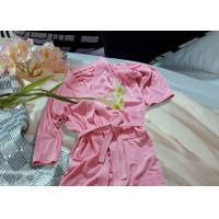 Embroidered Pattern Luxury Bath Robes For Hotel / Home Jacquard Cotton Fabric Manufactures