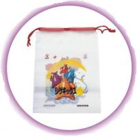 Promotional Candy / Cookies / Chocolate Drawstring Plastic Bags With Cartoon Printing Manufactures