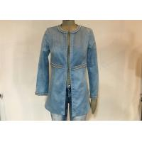 Casual Style Ladies Suede Jackets , Studs Decorated Ladies Pu Leather Jackets Manufactures
