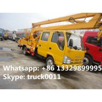 best price ISUZU 16m overhead working truck for sale, best priceJapan brand 14m-16m hydraulic bucket truck for sale Manufactures