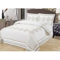 Elegant Embroidered Modern Duvet Covers And Shams 4Pcs Twin Bed Duvet Covers Manufactures