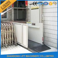 Home Stair Elevator Wheelchair Platform Lift with Self Resetting System Drive Control Manufactures