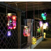 Bright Landscape Solar Lights Waterproof Color Changing Mason Jar Lid Lights Manufactures