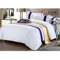 China Hotel Bedding Sets High Grade White And King Size With 60S 100% Cotton on sale