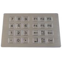 Stainless steel metal keypad for kiosk Manufactures