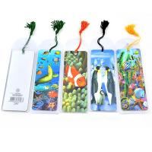 fashion plastic lenticular 3d bookmark with tassel Manufactures