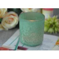 Luxury Glass Candle Holders Beautiful Feather Painted Candle Holders For Decoration Manufactures