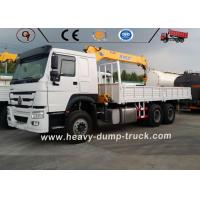 SINOTRUK HOWO 6x4 Lorry Truck Mounted Small Truck Crane With Telescopic Boom Manufactures