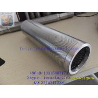 STAINLESS STEEL WELL SCREEN TUBE / DEWATERING WELL SCREEN PIPE / WEDGE WIRE