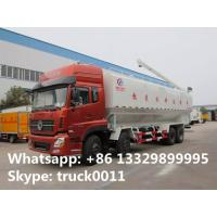 Quality dongfeng tianlong 8*4 LHD 40cbm animal feed delivery truck for sale, 25tons farm-oriented bulk feed tank truck for sale for sale