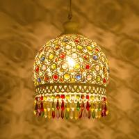 Quality Tiffany crystal chandelier With Lampshade For Living room Bedroom (WH-CY-04) for sale