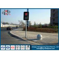 China Hot Roll Steel Traffic steel light poles  , Traffic Light Post for Crosswalk on sale