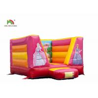 Buy cheap OEM 0.44mm 0.55mm PVC Princess Inflatable Bounce Castle With Blower For Child from wholesalers