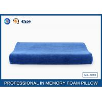 Blue Curved Memory Foam Contour Pillow Relief Of Back / Neck And Shoulder Pain