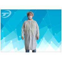 Non - Woven Disposable Lab Coats With Velcro Fastening Soft And Breathable Manufactures