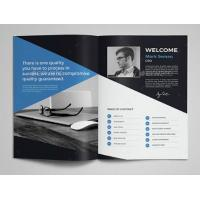 Cost Effective Corporate Business Brochure , Printable Graphic Design Pamphlet Manufactures